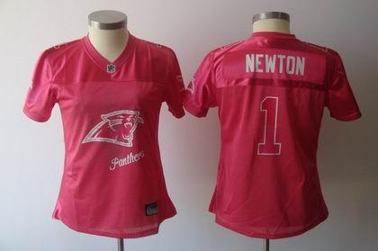2011 Womens FEM FAN Carolina Panthers  1 Cam Newton RED Jersey c2bcdf85af