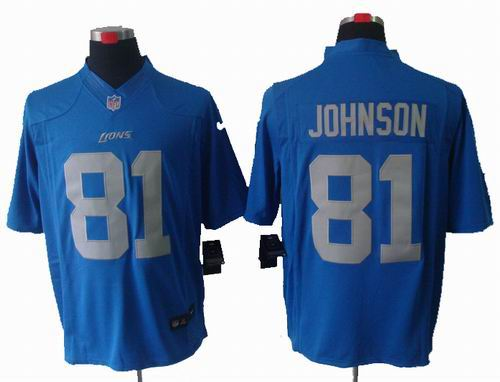 bdc0a55dc 2012 Nike Detroit Lions #81 Calvin Johnson blue limited jersey
