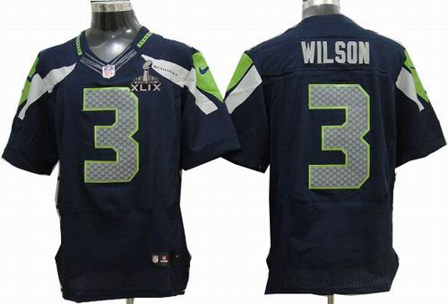abeab9340 2015 Super Bowl XLIX Jersey Nike 2012 Nike Seattle Seahawks 3# Russell  Wilson Team Color
