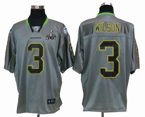 2015 super bowl xlix jersey youth nike seattle seahawks 3 russell wilson lights out grey