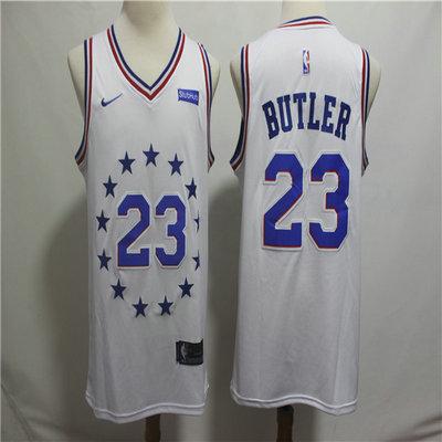 5acced04b20 76ers 23 Jimmy Butler White 2018-19 Earned Edition Nike Swingman Jersey
