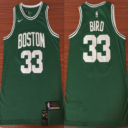 new product 091b6 ec10f Celtics #33 Larry Bird Green Nike Swingman Jersey