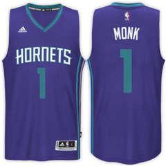 d54190d0669 Charlotte Hornets  1 Malik Monk Road Purple New Swingman Stitched NBA Jersey