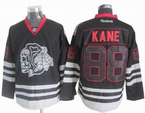 brand new e9e60 13914 Chicago Blackhawks 88 Patrick Kane2013 Black Ice Jerseys ...