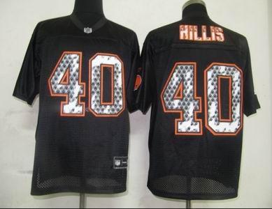 online store 66fed d2d41 Cleveland Browns 40 Hillis Black United Sideline Jerseys