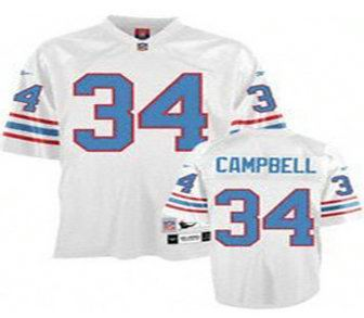first rate df953 24c61 release date houston oilers earl campbell 34 blue jersey ...