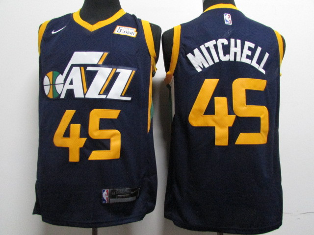 the best attitude fea7f 36a00 Nike Utah Jazz #45 Donovan Mitchell Navy NBA Swingman Icon ...
