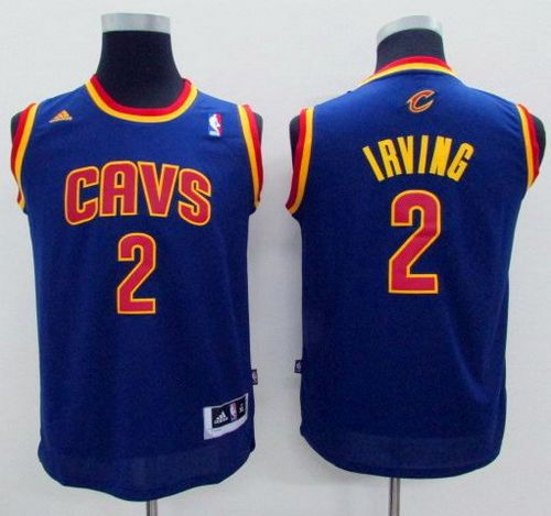 innovative design a5b68 09210 Kid Cleveland Cavaliers 2 Kyrie Irving Navy Blue NBA Jersey