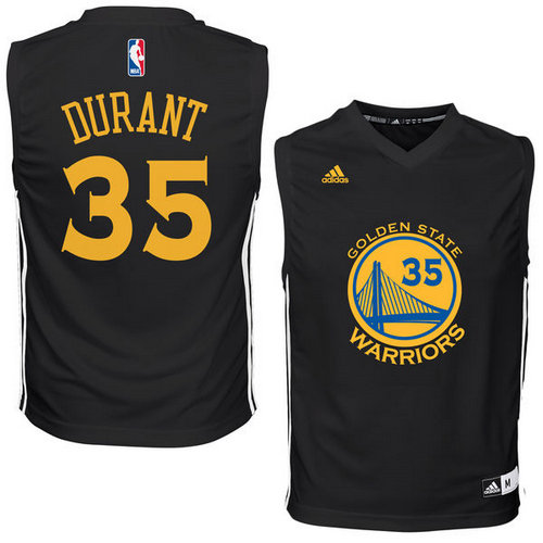 info for 98bfb ac910 Youth Nike Golden State Warriors #35 Kevin Durant Black Jersey