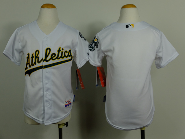 brand new c3c40 cd6a1 Kid Oakland Athletics Blank white Cool Base Jersey