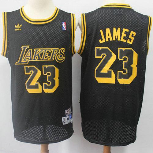 Lakers  23 LeBron James Black Throwback Stitched NBA Jersey 0fb01b495