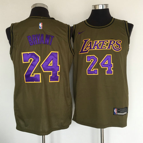 a66681dc9b1 Lakers  32 Magic Johnson Olive Nike Swingman Jersey