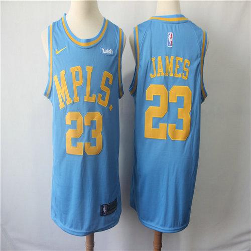 Lakers 23 Lebron James Light Blue Nike Swingman Jersey ef03a84a6