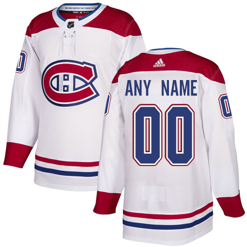 Men s Adidas Canadiens Personalized Authentic White Road NHL Jersey feb1a69032b