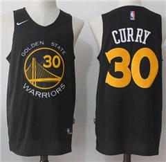Men s Nike Golden State Warriors  30 Stephen Curry Black Fashion NBA  Swingman Jersey b160a3694