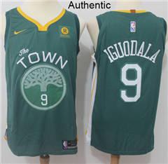 1dd68518 Men's Nike Golden State Warriors #9 Andre Iguodala Green NBA Authentic  Jersey