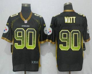 7c33a44ff07 Men's Pittsburgh Steelers #90 T. J. Watt Black Drift Stitched NFL Nike Fashion  Jersey