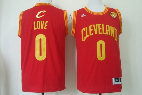 74246fcbe Men Cleveland Cavaliers 0 Kevin Love 2016 The NBA Finals Patch Red Swingman  Jersey