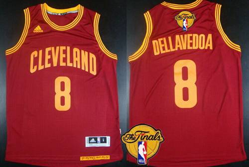 b92f90272 Men Cleveland Cavaliers 8 Matthew Dellavedova 2016 The NBA Finals Patch Red  Jersey