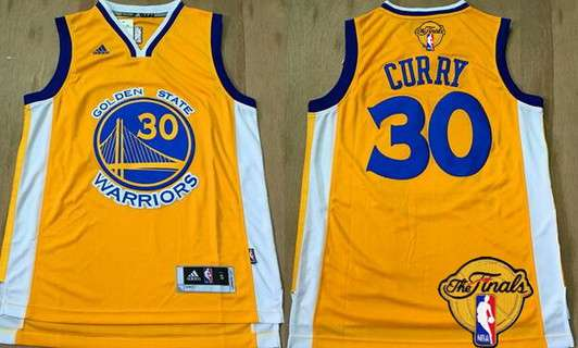 0a0e02e1f Men Golden State Warriors 30 Stephen Curry Yellow 2016 The NBA Finals Patch  Jersey