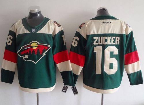 release date ab6bb d131d Minnesota Wild 16 Jason Zucker Red NHL Jersey