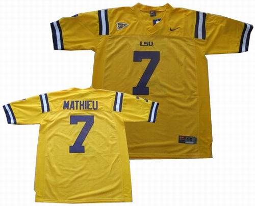 competitive price eae8b 913cd NCAA LSU Tigers #7 Tyrann Mathieu Jersey white