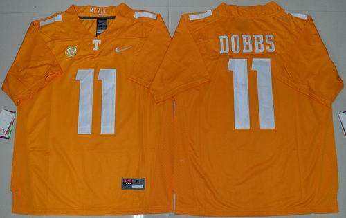 ed6173b21 NCAA Tennessee Vols  11 Joshua Dobbs orange Jersey