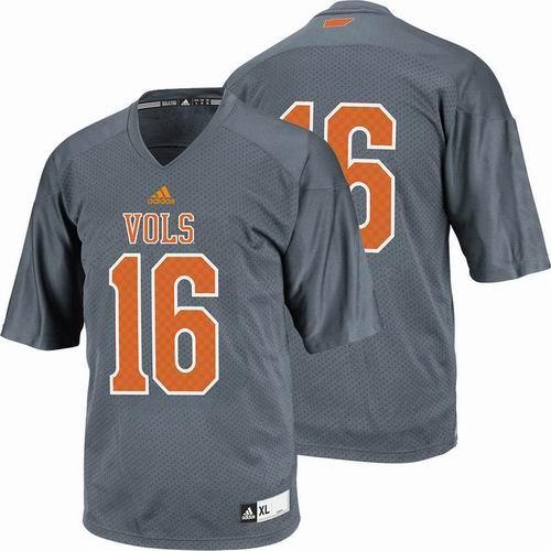 best sneakers 7e17b 7208a Tennessee Vols Blank Grey NCAA Jersey