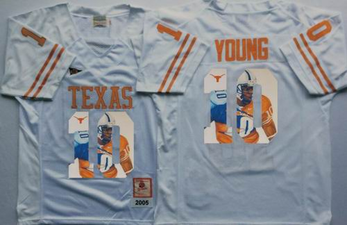 new arrivals 4b28d 07981 NCAA Texas Longhorns 10# Vince Young yellow fashion Jersey