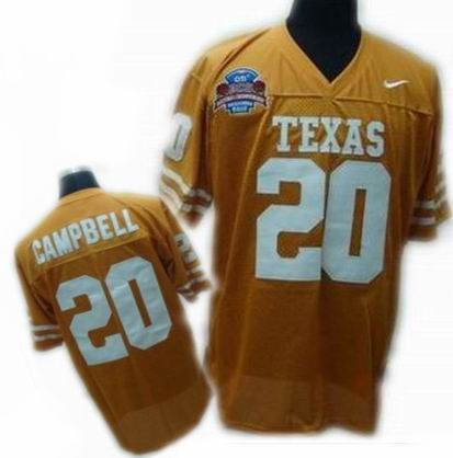 competitive price 1296a 0d1ae Texas Longhorns 20 Earl Campbell White NCAA Jersey
