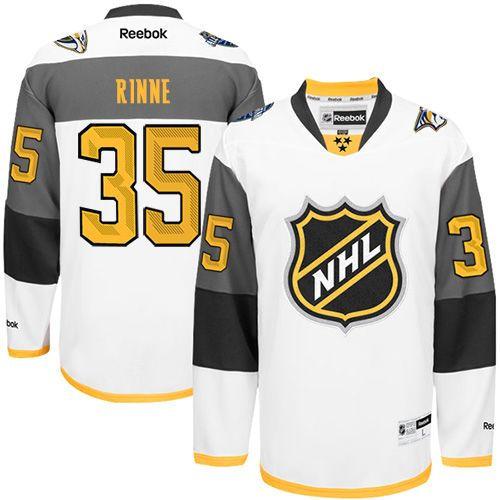 Nashville Predators 35 Pekka Rinne White 2016 All Star NHL Jersey b77a80a9a