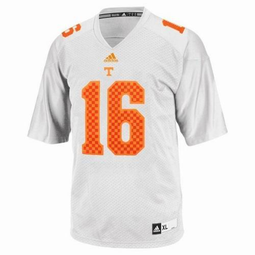 best cheap 9cec1 67428 ncaa Tennessee Volunteers Adidas #16 Peyton Manning yellow ...
