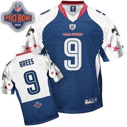 new concept c6fcb 23319 New Orleans Saints #9 Drew Brees 2010 Pro Bowl NFC