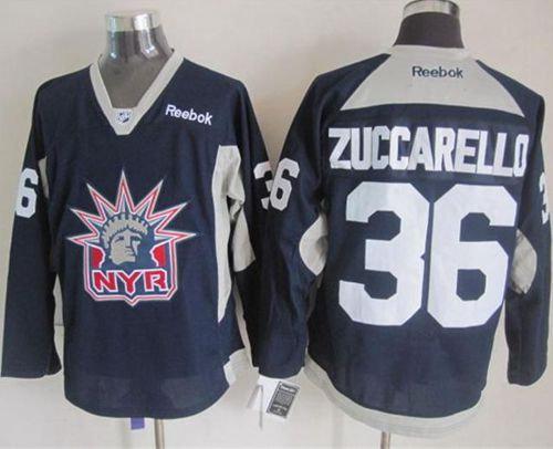 fc08c767e New York Rangers 36 Mats Zuccarello Navy Blue Statue of Liberty Practice NHL  Jersey