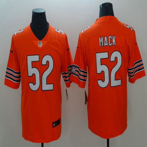 online retailer 7f458 f1575 Nike Bears 52 Khalil Mack Orange Alternate Vapor Untouchable ...