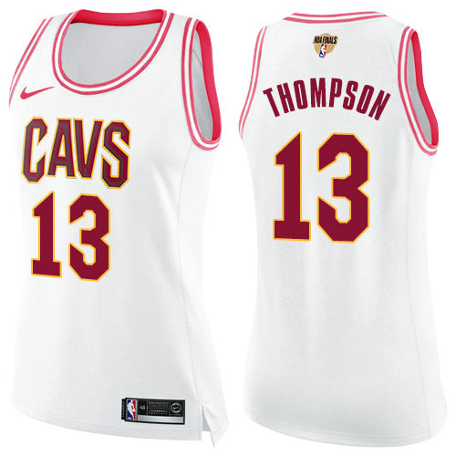 1f190d30 Nike Cavaliers #13 Tristan Thompson White Pink The Finals Patch Women's NBA  Swingman Fashion Jersey