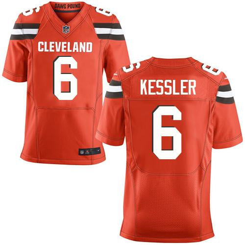 buy online 5d540 6fc38 Nike Cleveland Browns 6 Cody Kessler Orange Alternate NFL ...
