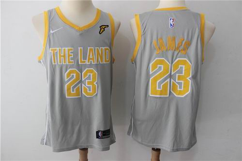 5e9046a5f2a1 Nike Cleveland Cavaliers  23 LeBron James Gray NBA Swingman City Edition  Jersey