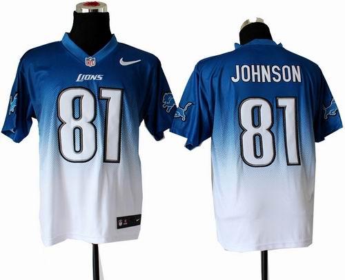 Top Nike Detroit Lions #9 Matthew Stafford Blue Elite Drift Fashion Jersey  for cheap