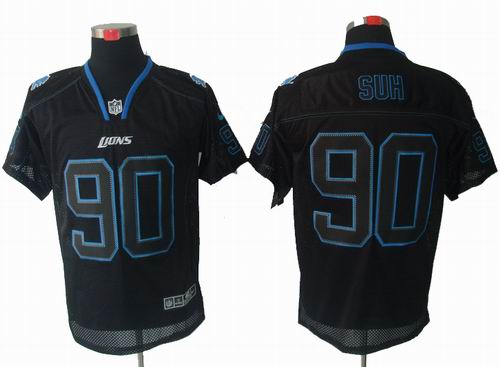 ... where can i buy nike detroit lions 90 ndamukong suh lights out black  elite jersey 57bc8 6d5a9e167