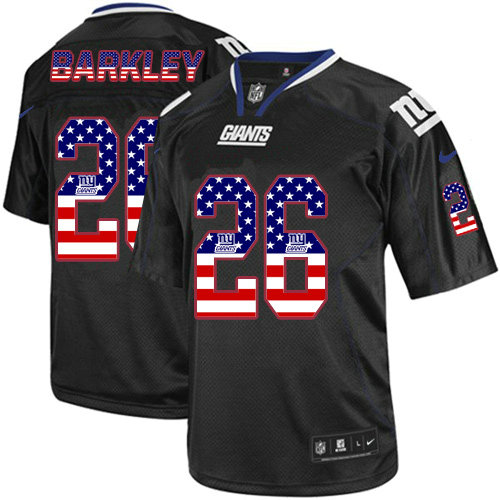 buy online 1c18b 8ea72 Nike Giants #26 Saquon Barkley Red Drift Fashion Elite Jersey
