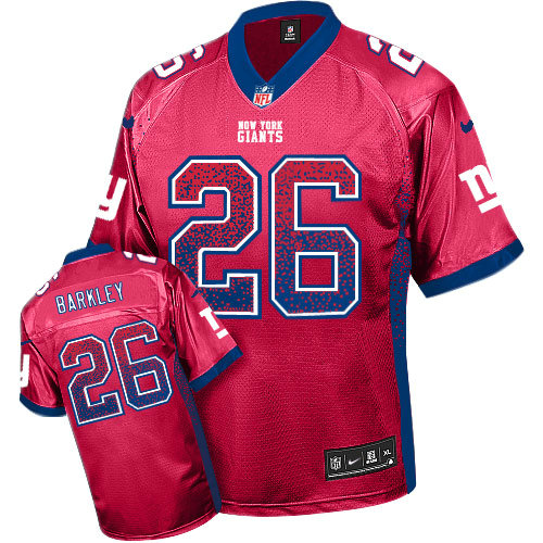 buy online 7e685 e0634 Nike Giants #26 Saquon Barkley Red Drift Fashion Elite Jersey