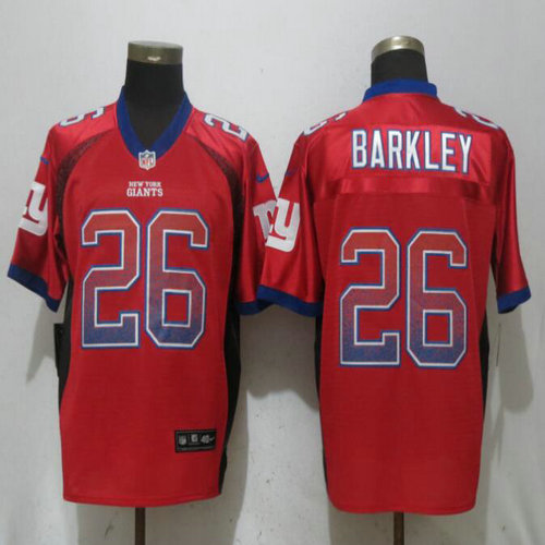 buy online 68c16 6c2b8 Nike Giants #26 Saquon Barkley Red Drift Fashion Elite Jersey