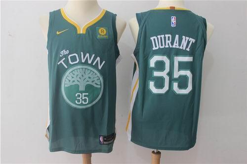 e3f6a1ce8d8c Nike Golden State Warriors  35 Kevin Durant green 2017-2018 Swingman  Rakuten Jersey