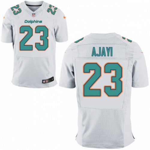 d943848b Nike Miami Dolphins 23 Jay Ajayi White NFL New Elite Jersey