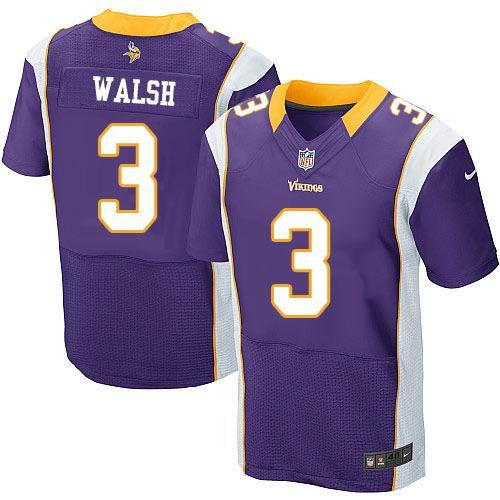 half off dd950 44f1b Nike Minnesota Vikings #3 Blair Walsh purple Elite jerseys