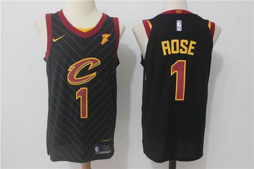 93be4afb1772 Nike NBA Cleveland Cavaliers  1 Derrick Rose Jersey 2017-18 New Season  black Jersey