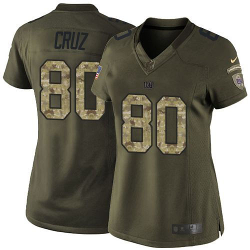 finest selection 4ff86 1e86a Nike New York Giants 80 Victor Cruz Green Women NFL Limited ...