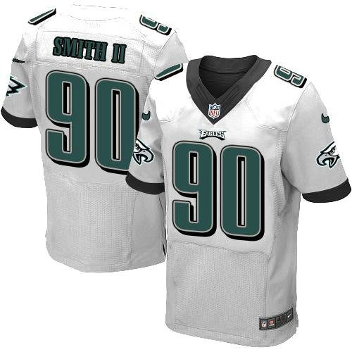 nike philadelphia eagles 90 marcus smith ii white nfl elite jersey .