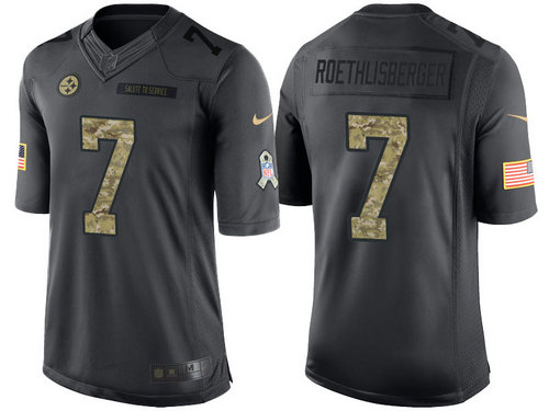 e66cddd40 ... low price nike pittsburgh steelers 7 ben roethlisberger black nfl  salute to service limited jerseys 9735c